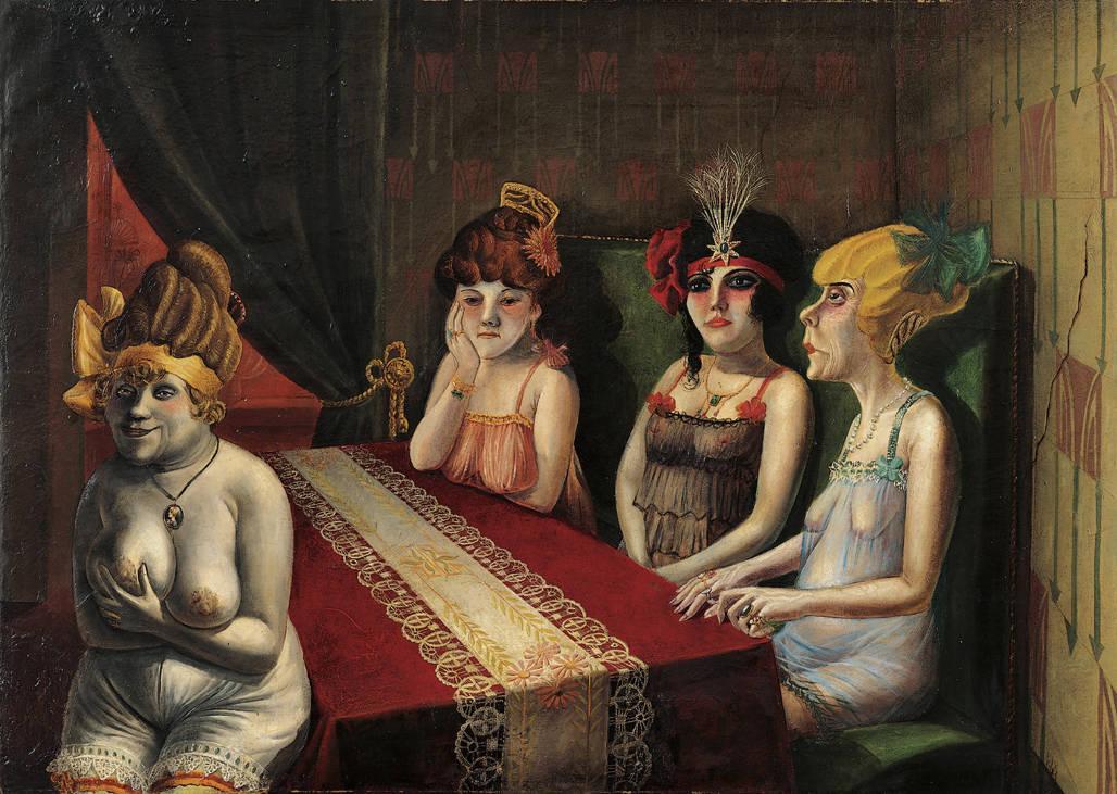 В салоне. 1921