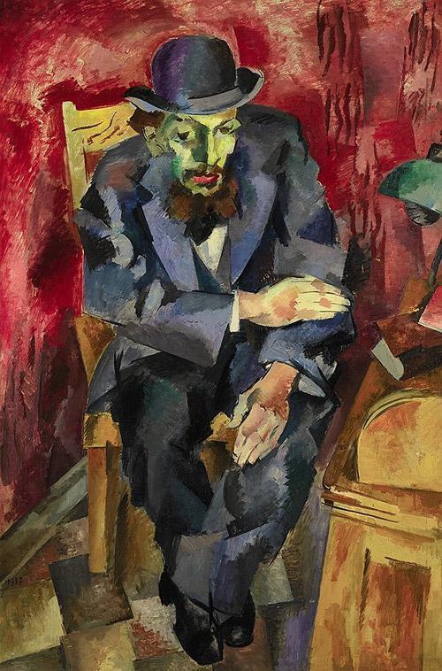 Роберт Фальк. Мужчина в котелке. Портрет Якова Каган-Шабшая, 1917 год