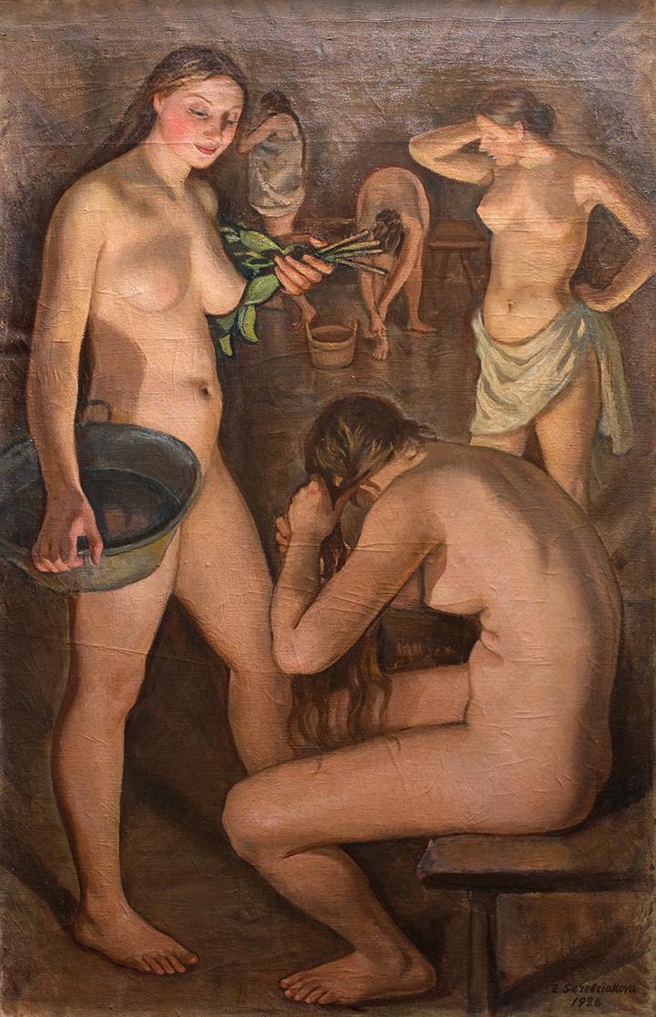 Русская баня Триптих (центральная часть). 1926