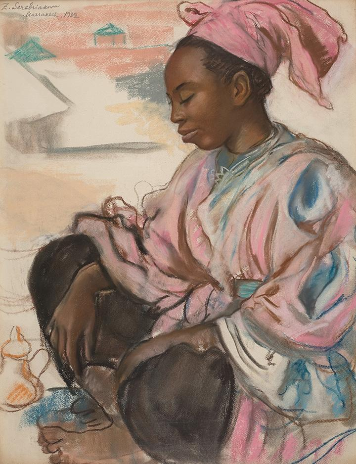 Девушка в розовом. Марракеш.1932