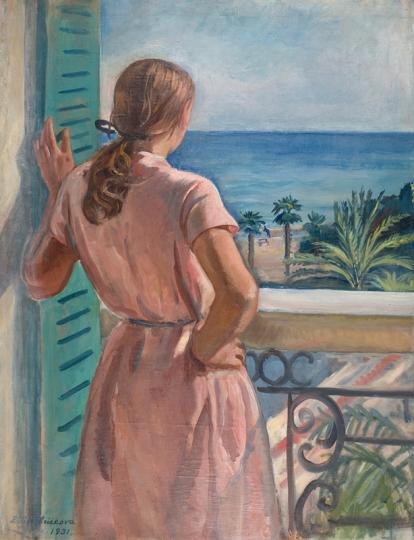 Девушка на балконе (Катя). 1931