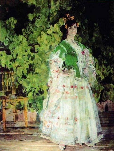 М.Н.Кузнецова-Бенуа в роли Кармен.1908