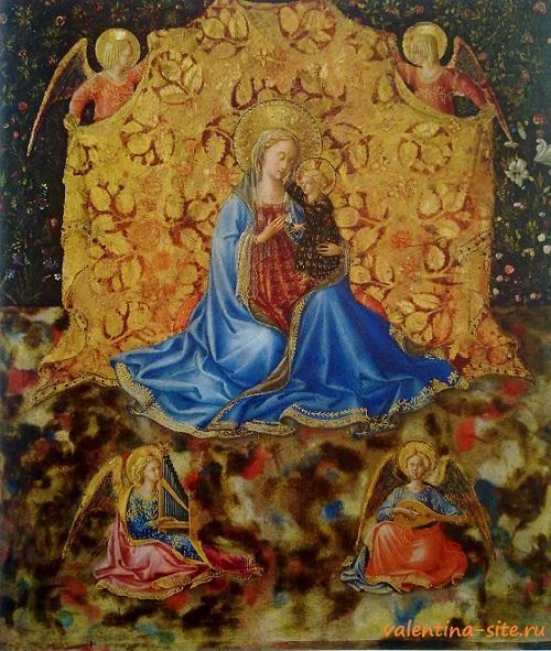 Беноццо Гоццоли. Мадонна Смирение. Около 1449-1450