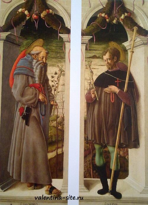 Скьявоне. Святой Иероним и Святой Алессио. 1458-1460