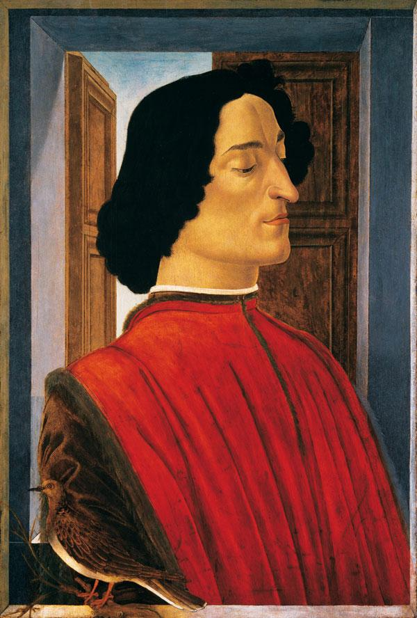 Боттичелли. Портрет Джулиано де Медичи. 1480