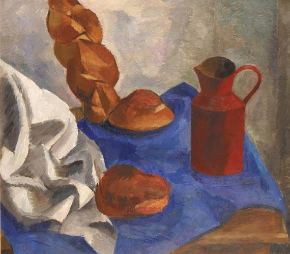 Роберт Фальк. Натюрморт с халой и кувшином. 1914