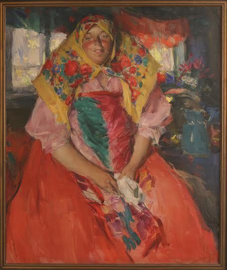 Абрам Архипов. Баба в красном. 1910-е