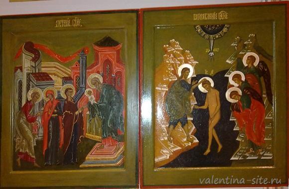 """Копии икон """"Сретенье"""" и """"Богоявление"""". 3 курс 2014г."""