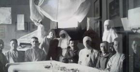 Групповой портрет сестер милосердия и раненых. 1914-1915