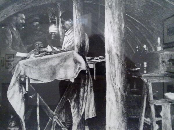 Подземная операционная. Франция. 1914-1918