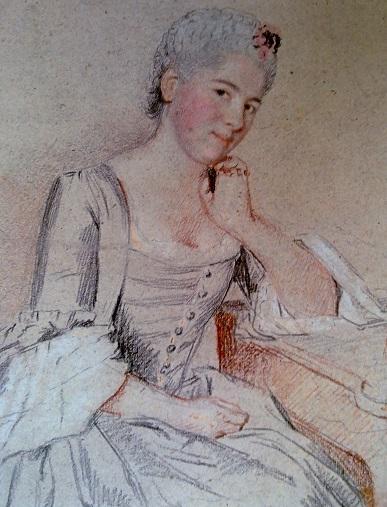 Жан-Этьен Лиотар. Портрет Жанны Натуар. Около 1750