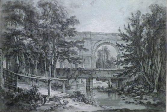 Франсуа Буше. Акведук в окрестностях Аркея. Около 1745-1755
