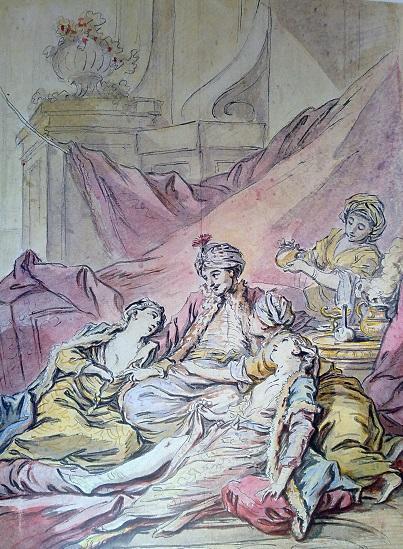 Франсуа Буше. Паша в гареме. Около 1735-1739