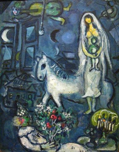 Марк Шагал. Белая лошадь. Окло 1960. ГМИИ