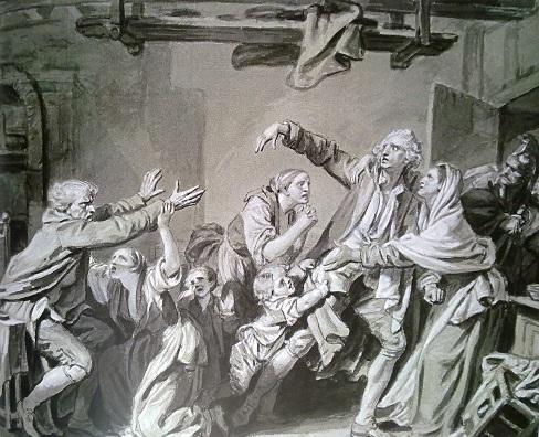 Жан-Батист Грез. Отец, проклинающий неблагодарного сына. 1777