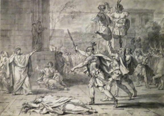 Жак-Луи Давид. Гораций убивает свою сестру Камиллу. 1781