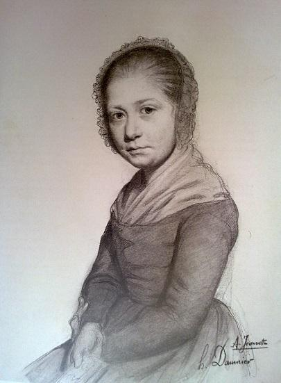 Оноре Домье. Портерт Девушки (Жанетт). Около 1830