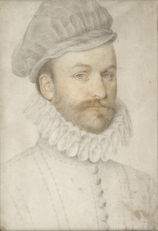 Пьер Дюмустье-дядя. Портрет молодого человека с брыжами и в польской шапочке. [Ок.1574]