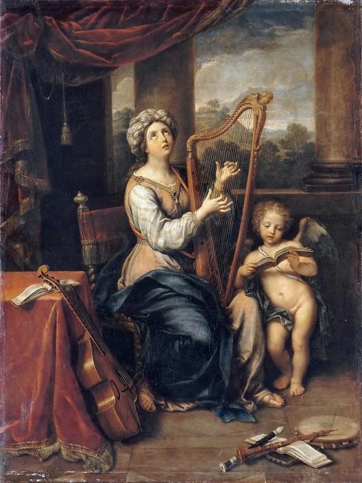 Пьер Миньяр. Святая Цецилия. 1691. Лувр