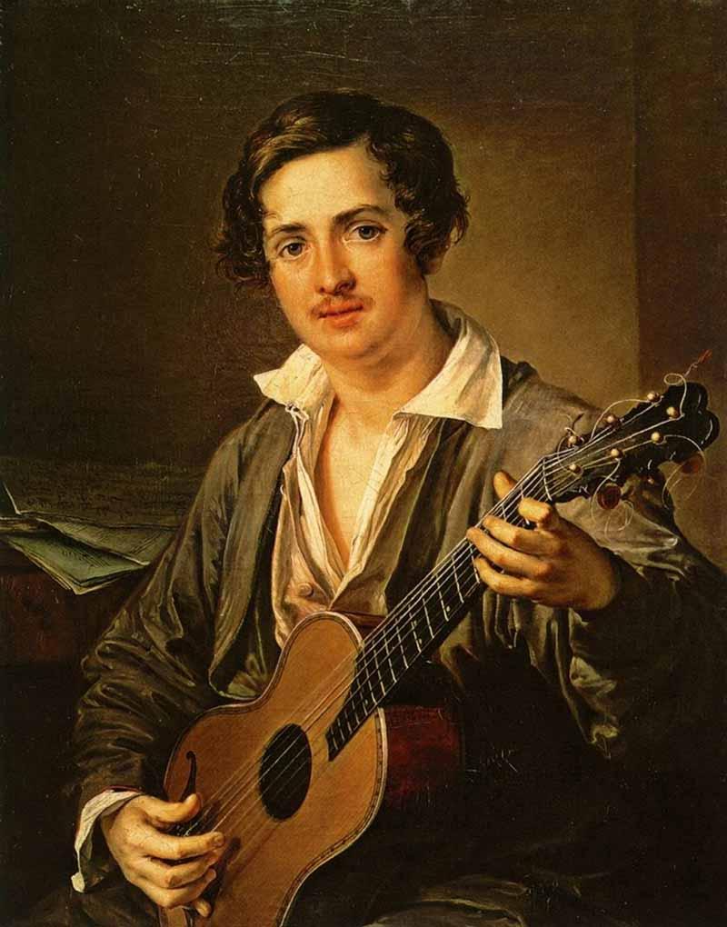 В.А.Тропинин. Гитарист. 1832. Третьяковская галерея