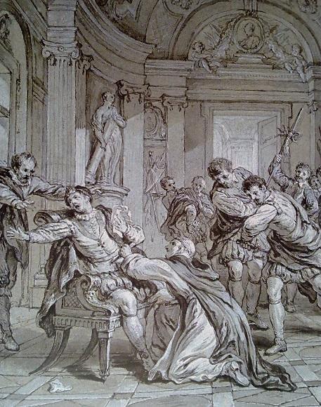 Франсуа Лемуан. Покушение Жака Клемана на Генриха III. Около 1728