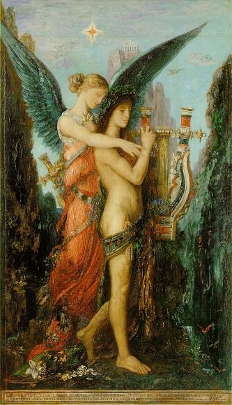 Гюстав Моро. Гесиод и муза. 1891. Музей Орсэ, Париж