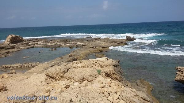 Израиль. Кейсария, Средиземное море