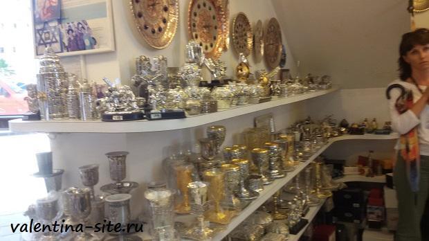 Магазин иранской чеканки в Акко
