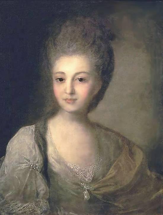 Портрет А П Струйской, второй жены Струйского